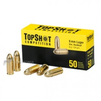 STRELIVO TOPSHOT COMPETITION 9MM FMJ, 124 GRS, 50 kos