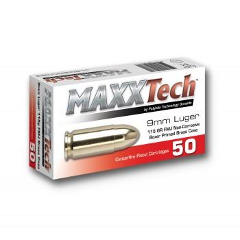 Strelivo MAXXTech 9mm FMJ 115gr